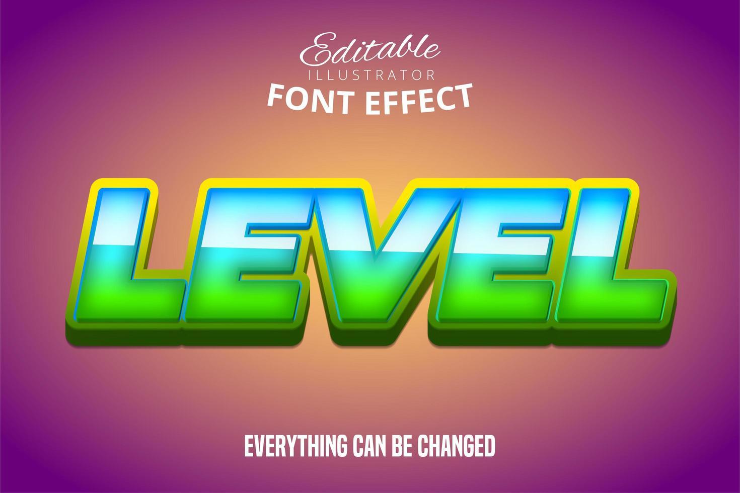 effet de texte de niveau vecteur