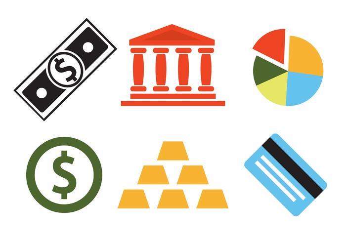 Ensemble vectoriel d'icônes bancaires