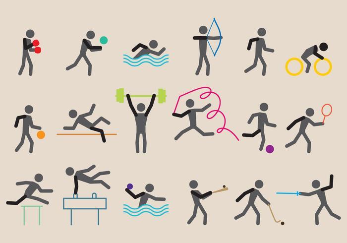 Vecteurs sportifs olympiques vecteur