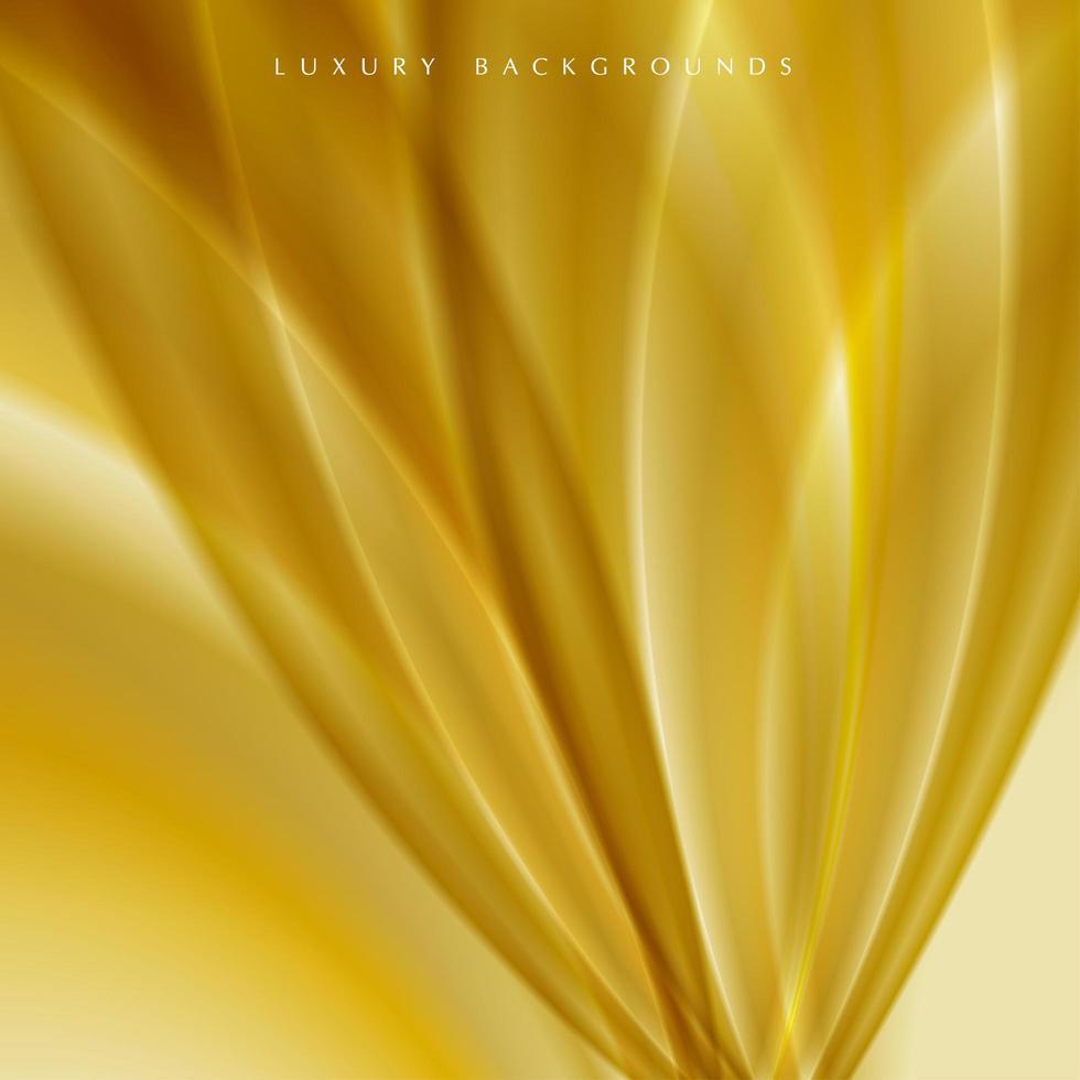 fond de pétales de fleurs dorées vecteur