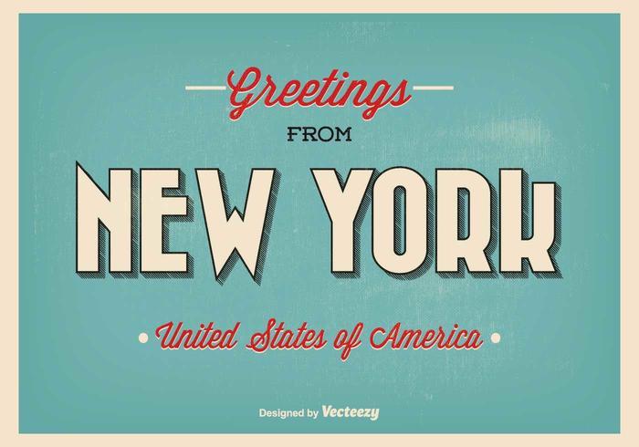 New york greeting illustration vecteur