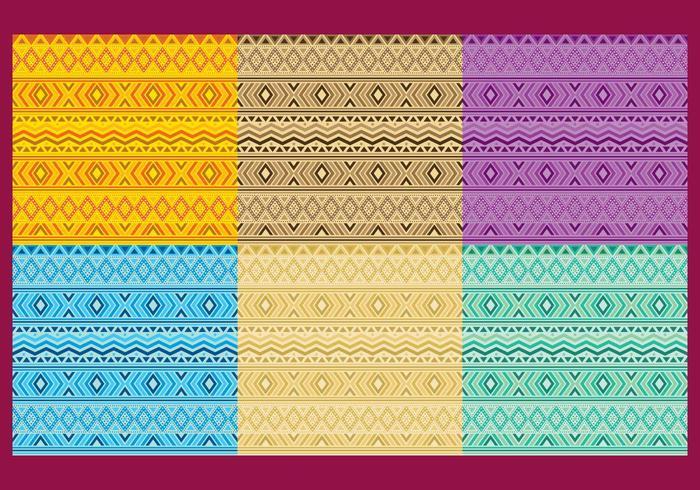 Vecteurs de motif aztèque vecteur