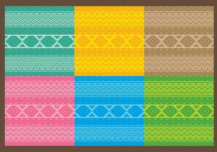 Motifs aztèques textiles vecteur