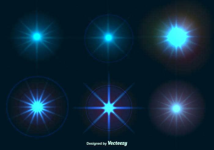 Effets brillants de lumière d'étoile vecteur