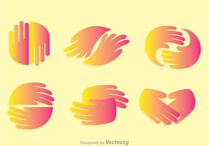 Icônes de gradation de poignée de main vecteur