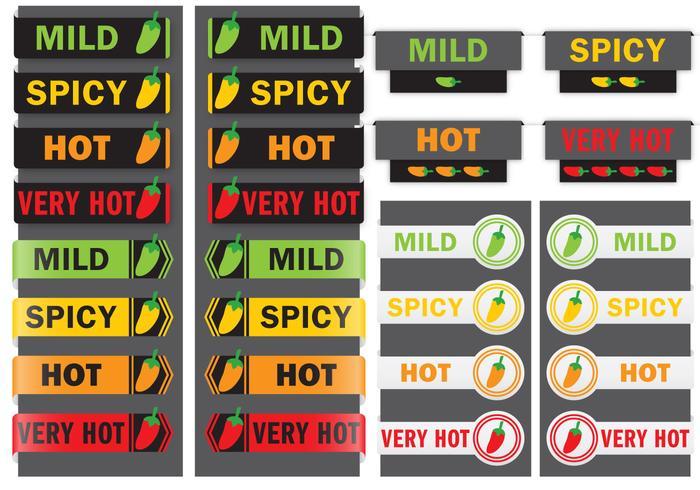 Étiquettes de poivrons vecteur