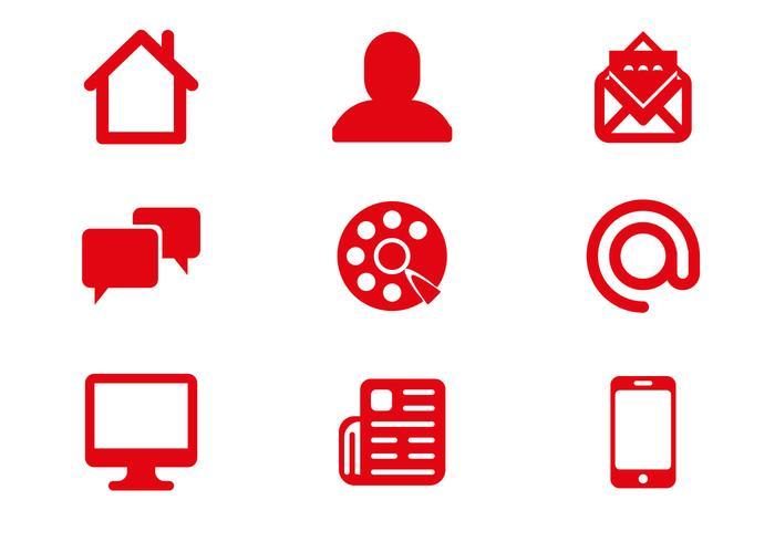 Vecteur d'icônes de communication gratuite