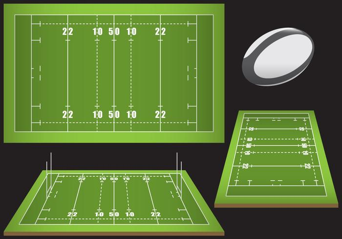 Emplacements de rugby vecteur