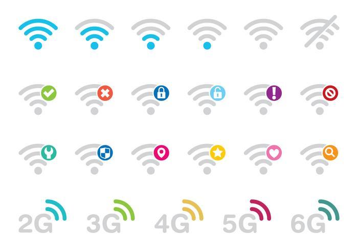 Vecteurs d'icônes Wi-Fi vecteur