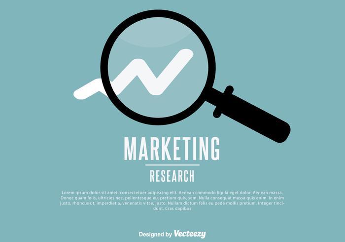 Illustration de recherche marketing vecteur