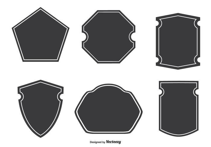 Formes d'insigne assorties vecteur
