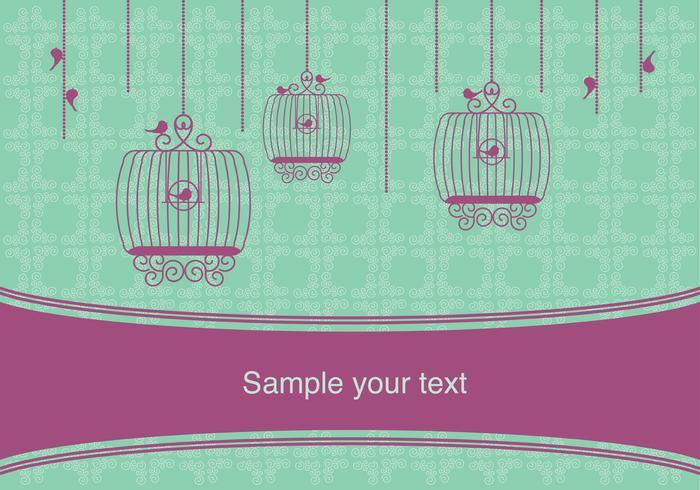 Design vintage vintage avec des cages à oiseaux vecteur