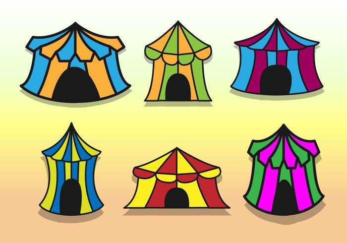 Les grands vecteurs de la tente de cirque supérieure vecteur