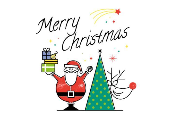 Carte Vectorielle Joyeux Noel Gratuite Telecharger Vectoriel Gratuit Clipart Graphique Vecteur Dessins Et Pictogramme Gratuit