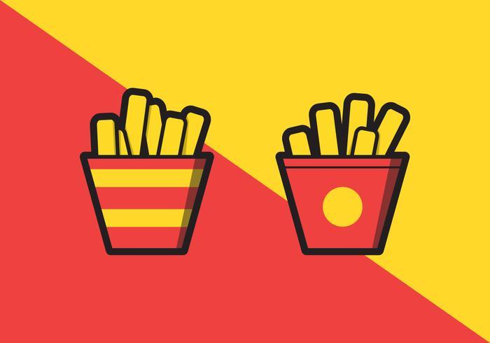 Illustration des frites vecteur