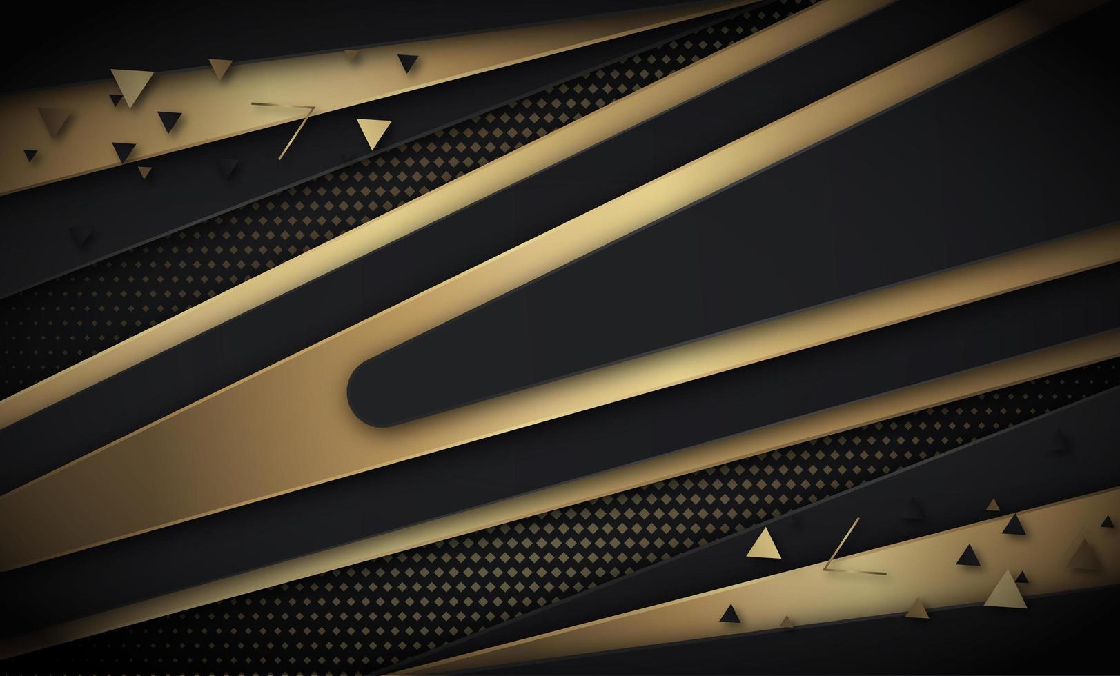 fond de v-formes diagonales noir et or vecteur