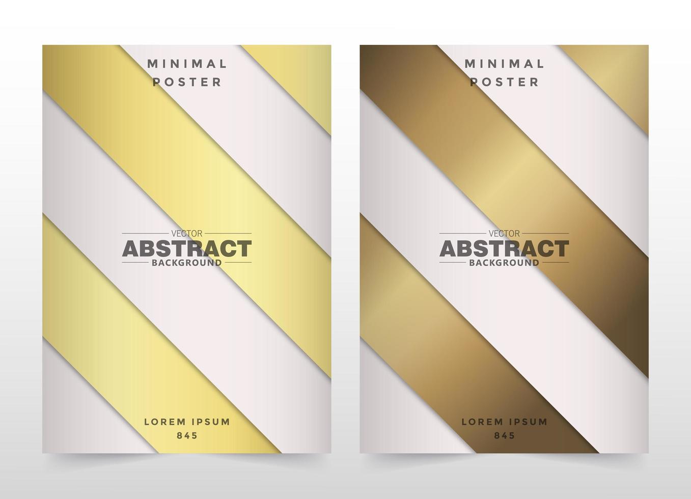 ensemble de couverture de bande diagonale se chevauchant or et beige vecteur