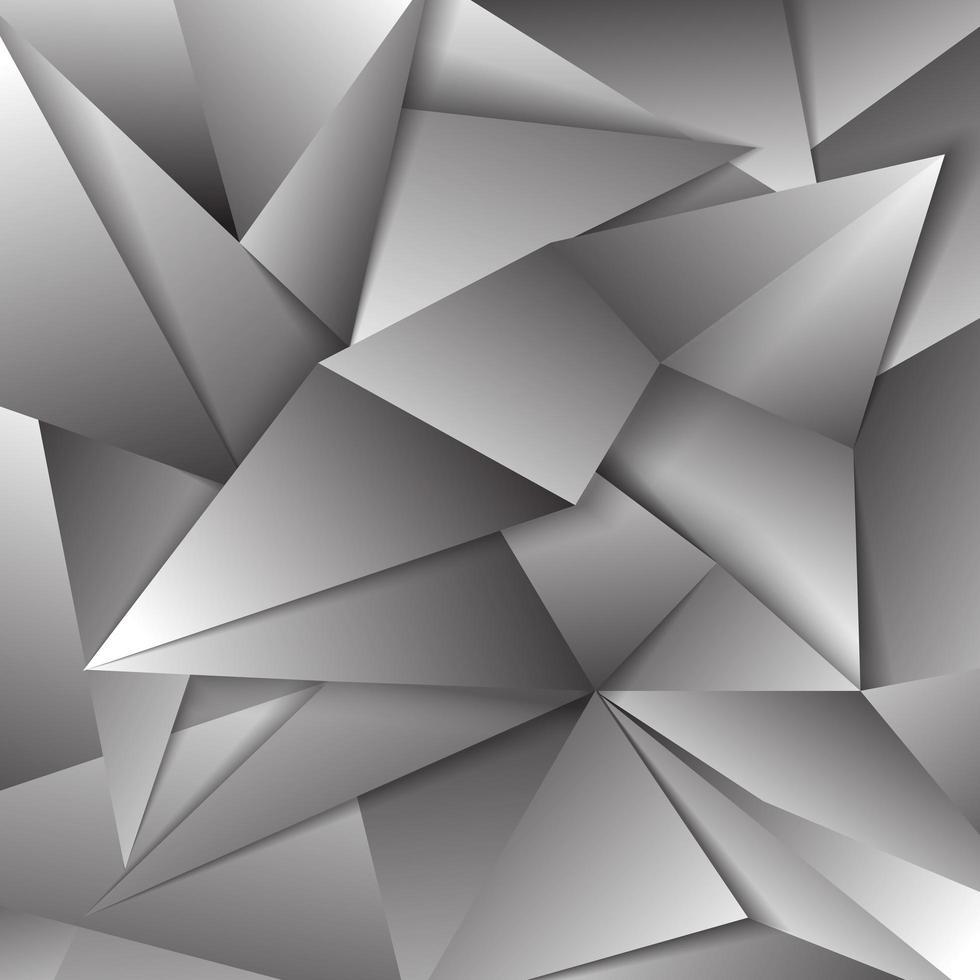 conception polygonale métallique vecteur