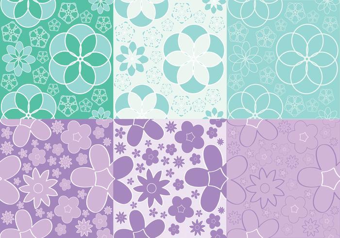 Vecteurs de motifs de fleurs féminines vecteur