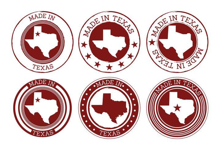 Made in Texas Vectors