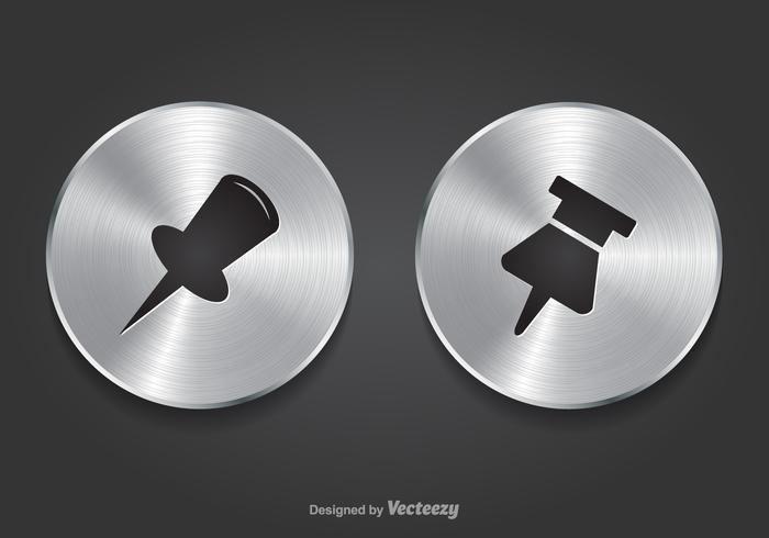 Boutons métalliques gratuits en métal Thumb Tack Vector