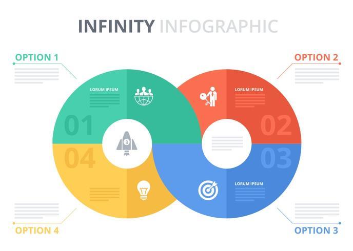Modèle vectoriel infographique gratuit Infinity
