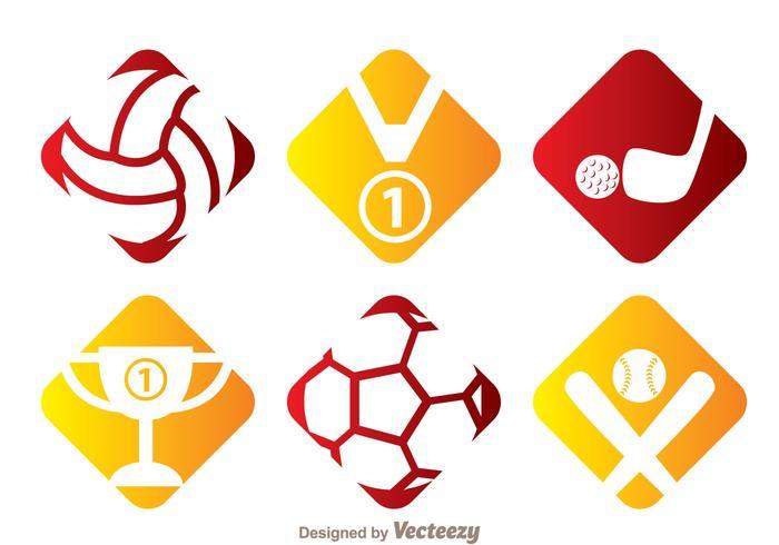 Icônes vectorielles sportives vecteur