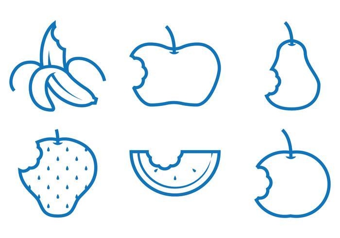 Vecteurs de morsure de fruits vecteur
