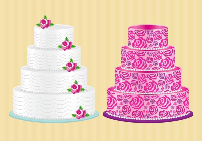 Gâteau Au Roses vecteur