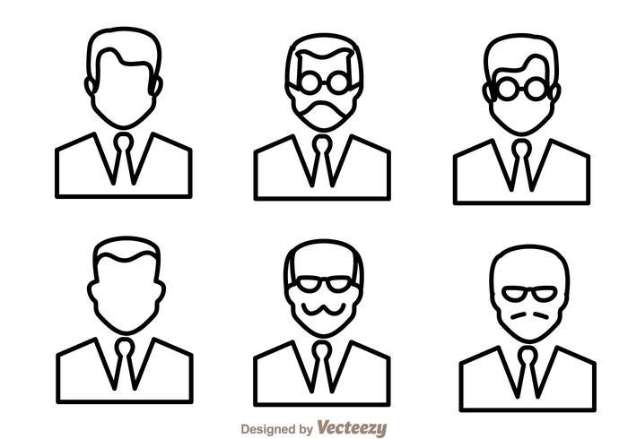 L'homme trace des icônes vecteur