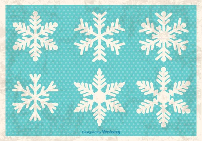 Flocons de neige décoratifs vecteur