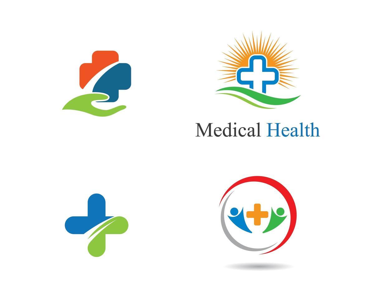 jeu de logo symbole médical vecteur