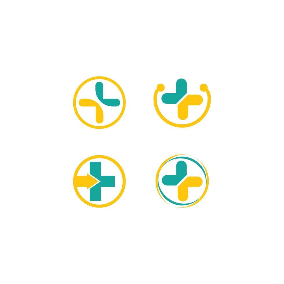 ensemble de logo de soins de santé médicaux vecteur