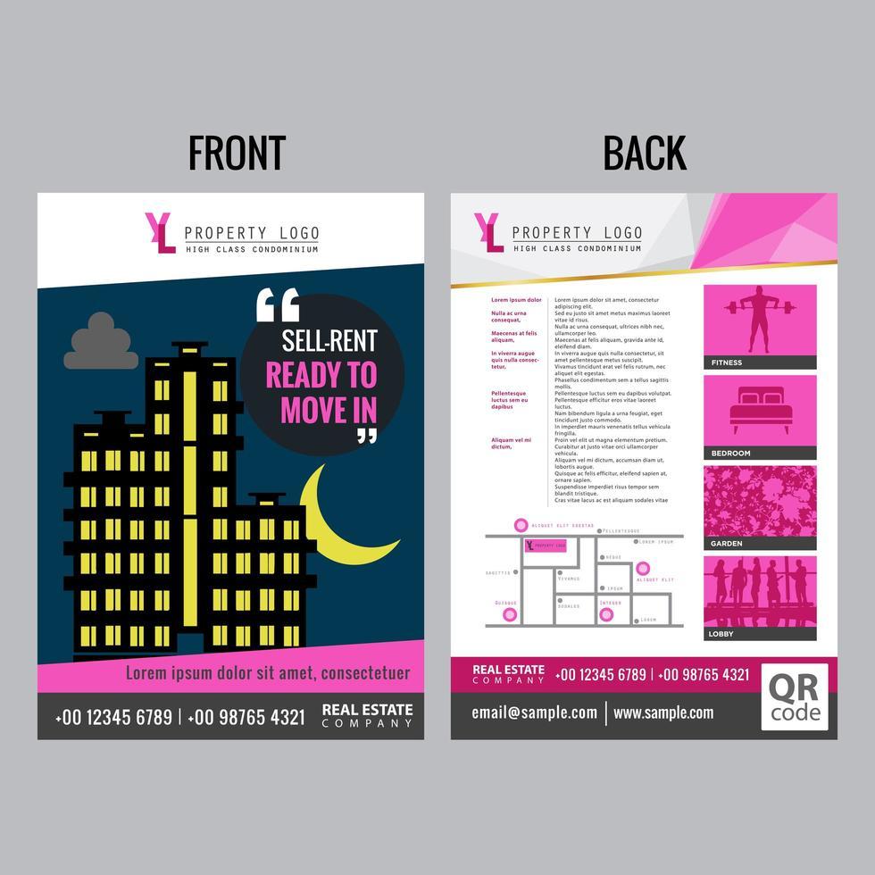 Modele De Flyer Immobilier Avec Des Accents Roses Telecharger Vectoriel Gratuit Clipart Graphique Vecteur Dessins Et Pictogramme Gratuit