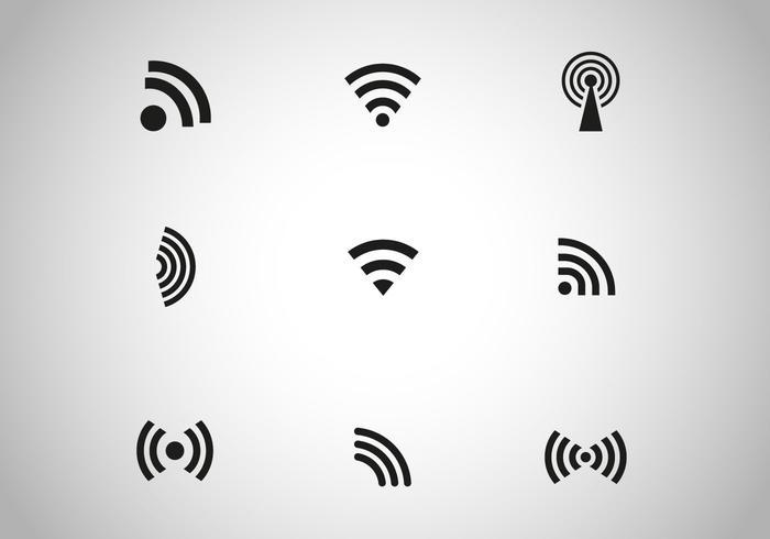 Vecteur icône sans fil noir gratuit