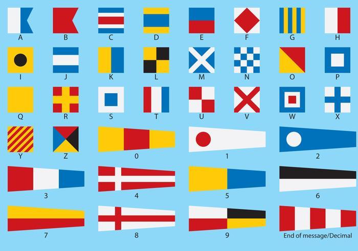 Vecteurs de drapeau nautique vecteur