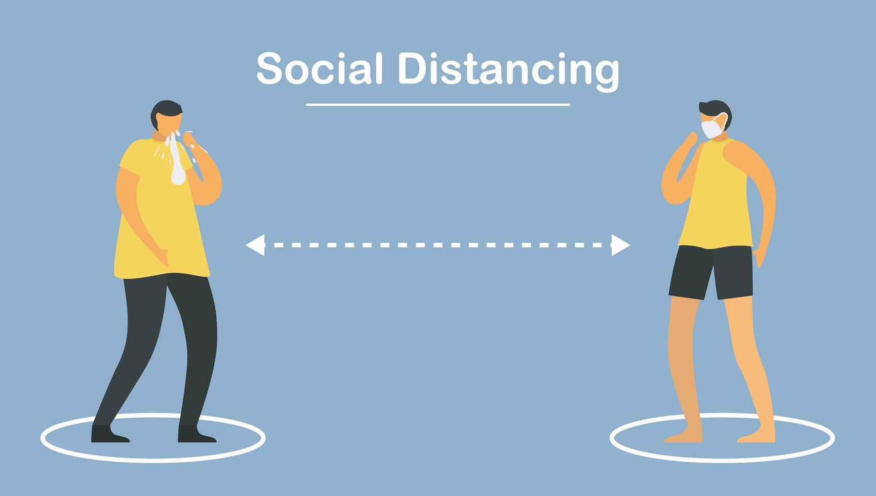 distanciation sociale. éloignez-vous des gens. vecteur