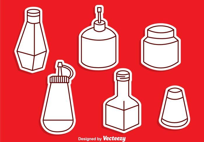 Ensemble de vecteur de bouteille de sauce