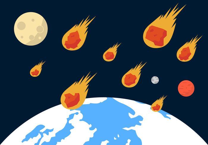 Illustration de vecteur de douche de météorite