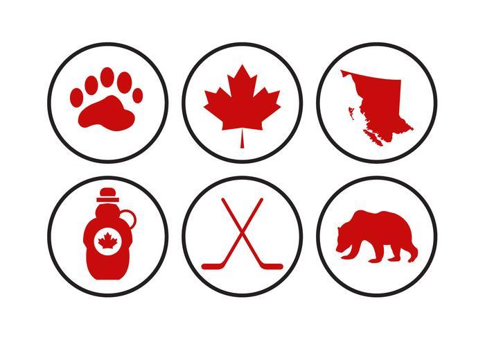 Vecteurs d'icônes du Canada vecteur