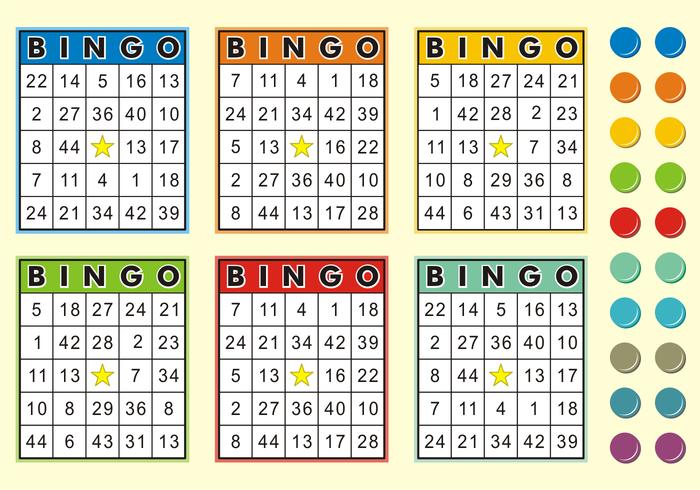 Cartes de bingo vecteur gratuit