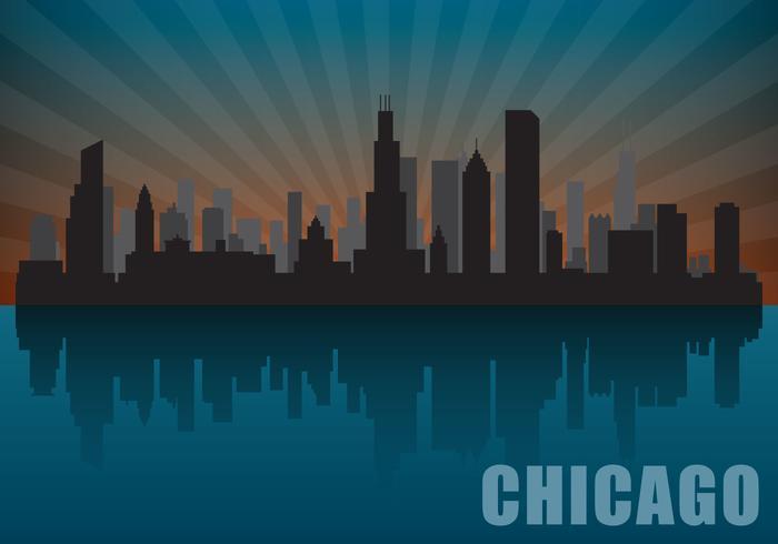 Horizon de chicago vecteur