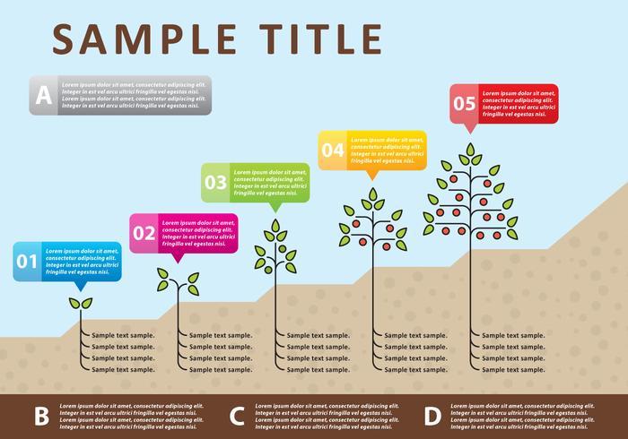 Infographie des plantes vectorielles vecteur
