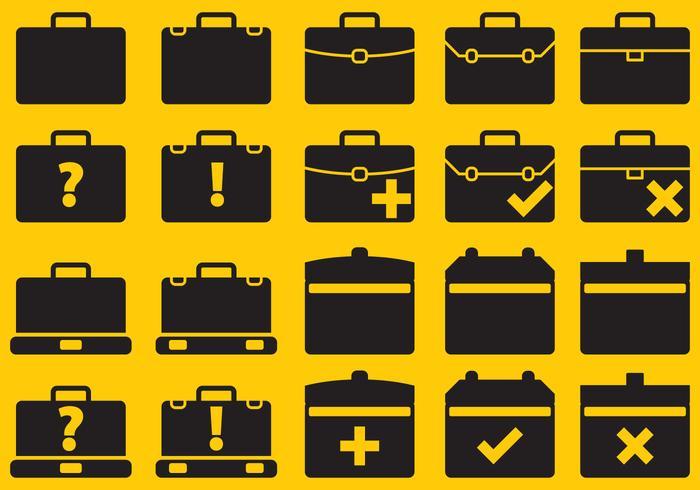 Icônes de valises vectorielles vecteur