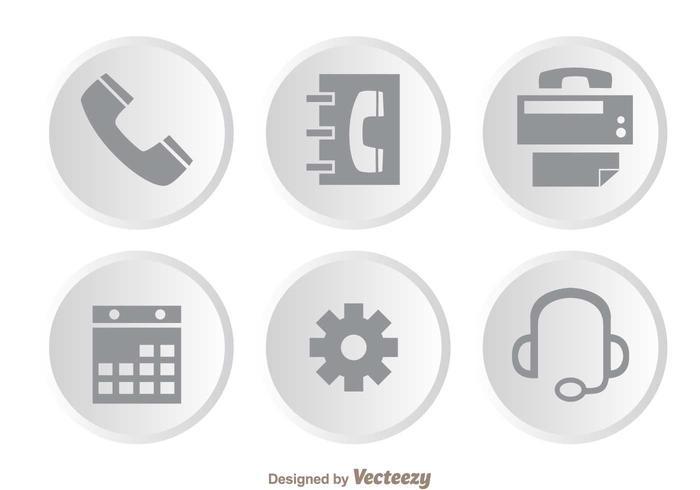 Service à la clientèle Icônes grises vecteur