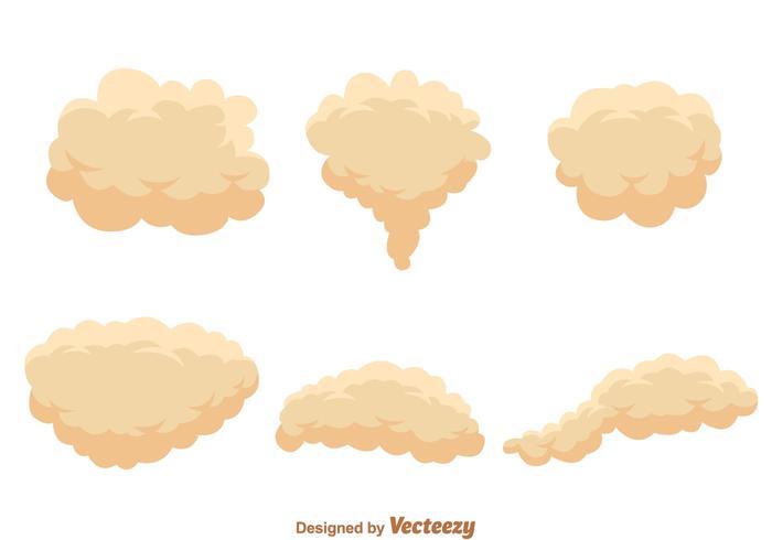 Vecteurs de nuage de poussière de crème vecteur
