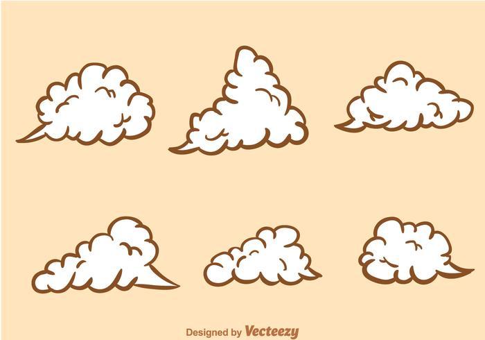 Effet du nuage de poussière vecteur