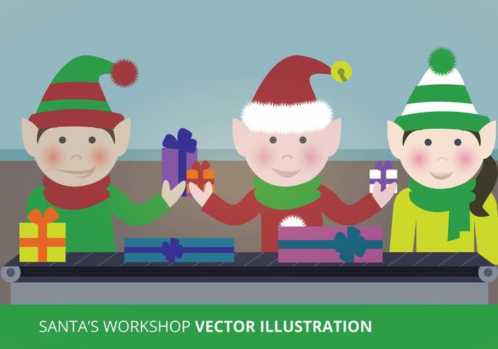 Vecteur d'atelier du Père Noël