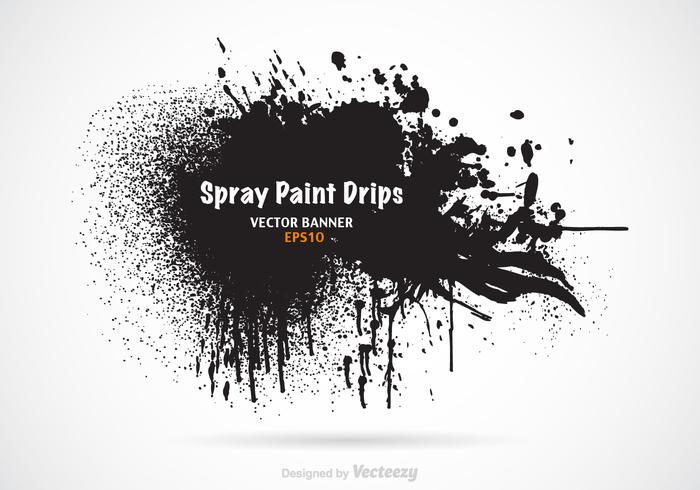 Bannière vectorielle Free Spray Paint Drips vecteur
