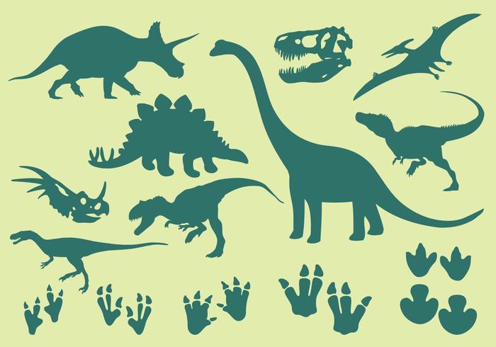 Icônes de dinosaures vecteur